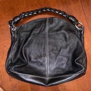 Ralph Lauren Black Pebble Leather Purse